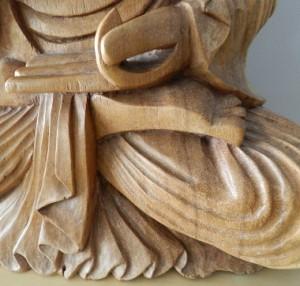 wooden buddha, deep spring center
